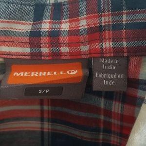 Merrell Shirts - Merrell Short Sleeve Plaid Shirt